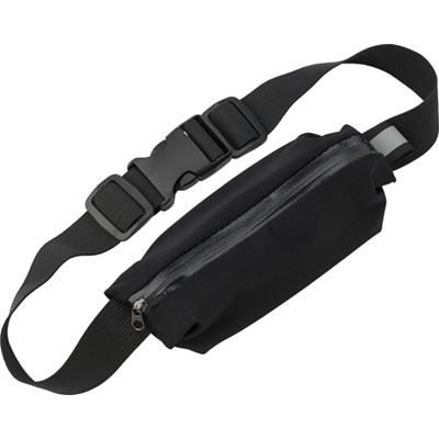 NEOPRENE, ZIPPERED, WAIST BAG.