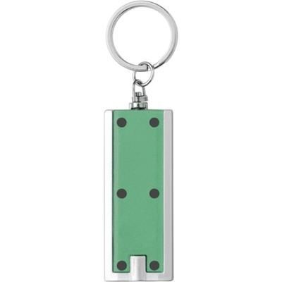 PLASTIC KEY HOLDER with Light in Transparent Green.