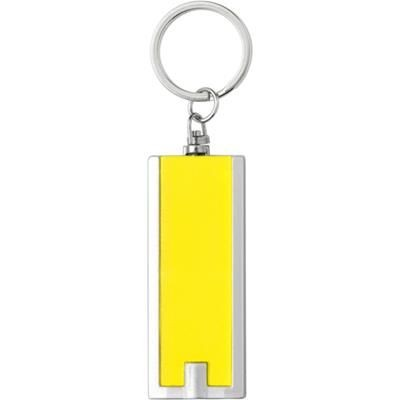 PLASTIC KEY HOLDER with Light in Yellow.