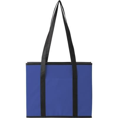NON WOVEN FOLDING CAR ORGANIZER in Cobalt Blue.