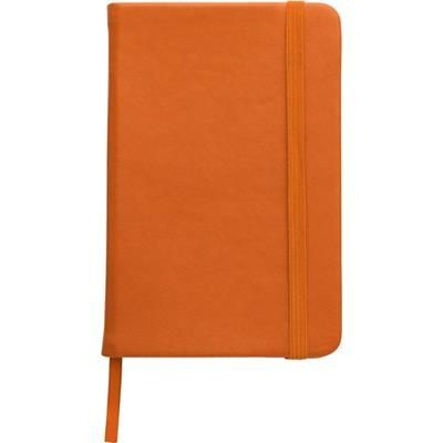 NOTE BOOK with Soft PU Cover in Orange.