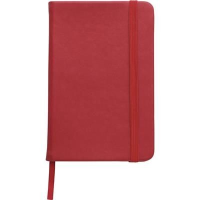 NOTE BOOK with Soft PU Cover in Red.
