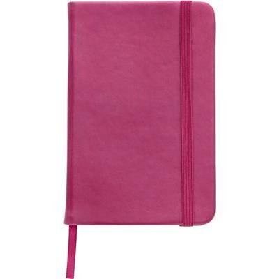NOTE BOOK with Soft PU Cover in Pink.
