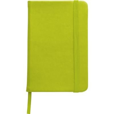 NOTE BOOK with Soft PU Cover in Light Green.