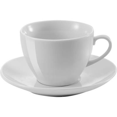SUPER WHITE PORCELAIN CUP AND SAUCER.