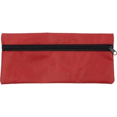 PENCIL CASE with Zip in Red.