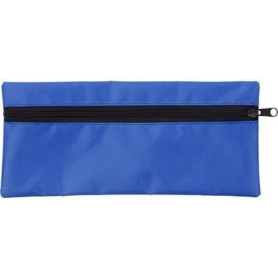 PENCIL CASE with Zip in Cobalt Blue.