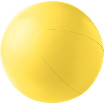 PVC INFLATABLE BEACH BALL in Yellow.