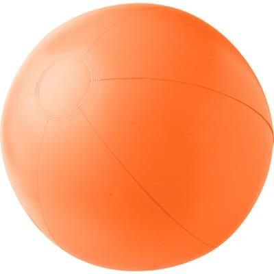 PVC INFLATABLE BEACH BALL in Orange.