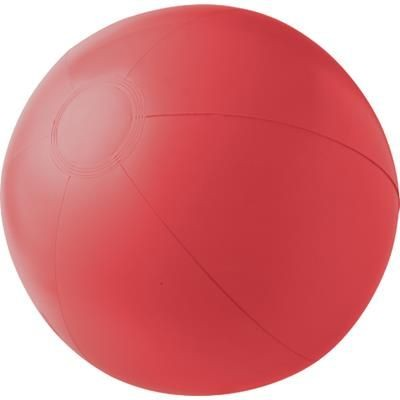 PVC INFLATABLE BEACH BALL in Red.