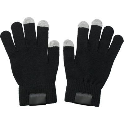 TOUCH SCREEN GLOVES in Black.