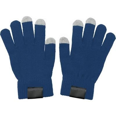 TOUCH SCREEN GLOVES in Blue.