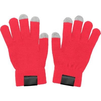 TOUCH SCREEN GLOVES in Red.
