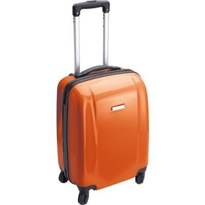 TROLLEY SUITCASE in Orange.