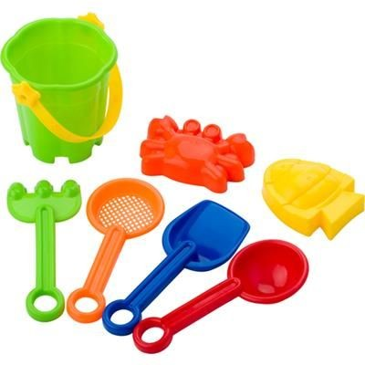 MULTI COLOUR BEACH BUCKET SET.