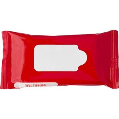 WET WIPE TISSUE PACK in Red.