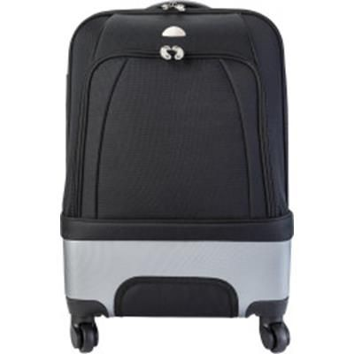 TROLLEY BAG with Silver Colour Plastic Parts.