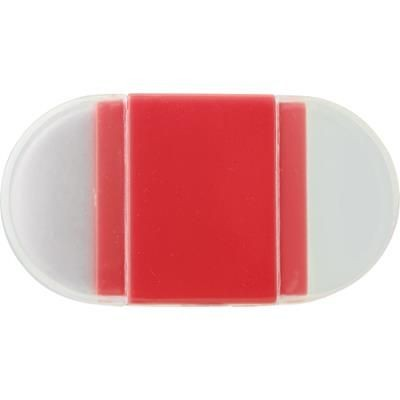 ERASER with Pencil Sharpener in Red.