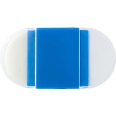 ERASER with Pencil Sharpener in Cobalt Blue.