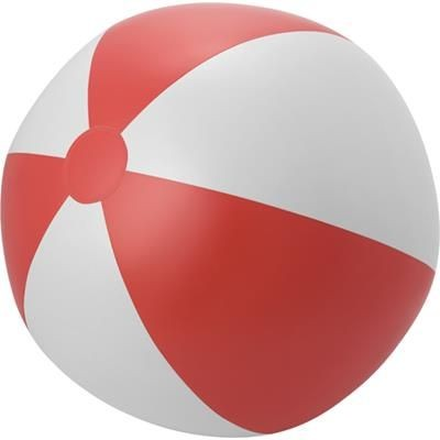 LARGE PVC BEACH BALL in Red & White.