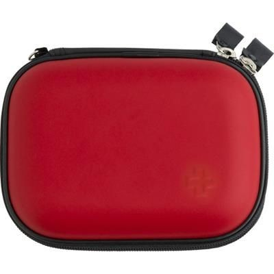 16 PIECE FIRST AID KIT in Red.