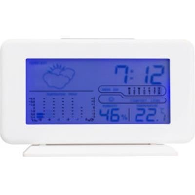 PLASTIC DIGITAL WEATHER STATION in White.