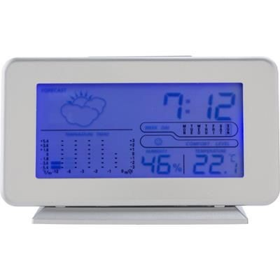 PLASTIC DIGITAL WEATHER STATION in Silver.