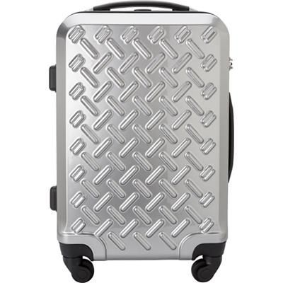 ABS TROLLEY SUITCASE in Silver.