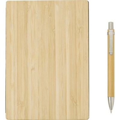 BAMBOO COVERED NOTE BOOK.
