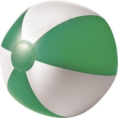 BEACH BALL in Green & White.