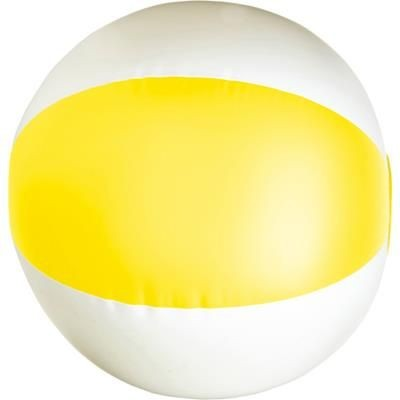 BEACH BALL in Yellow & White.