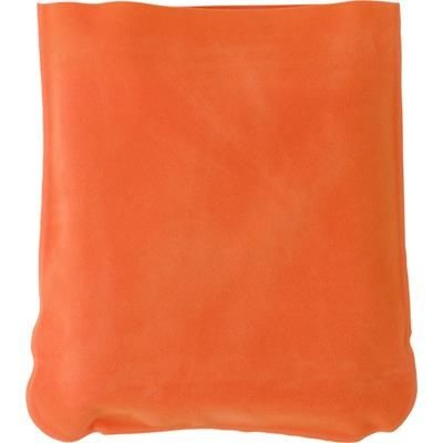 INFLATABLE TRAVEL CUSHION in Orange.