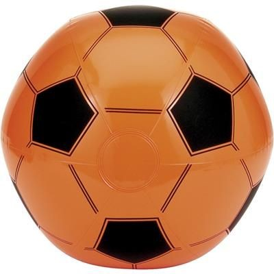 INFLATABLE FOOTBALL in Orange.