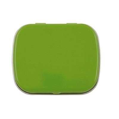 FLAT TIN with 25g of Mints in Pale Green.