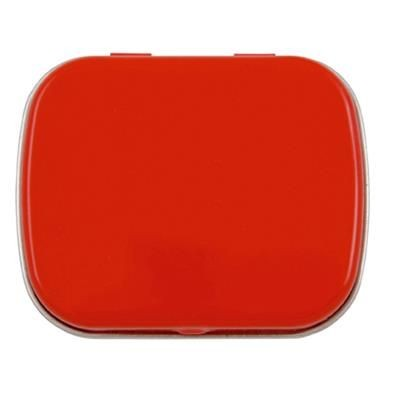 FLAT TIN with 25g of Mints in Red.