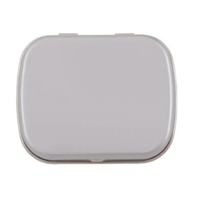 FLAT TIN with 25g of Mints in Pale Grey.