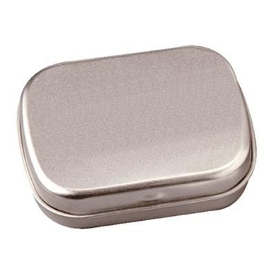 FLAT TIN with 25g of Mints in Silver.