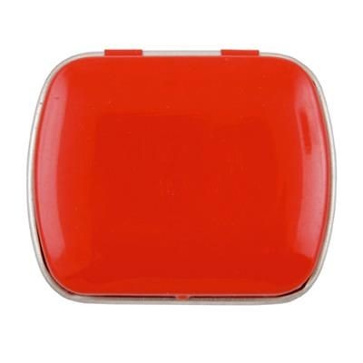 MINI HINGED TIN with Extra Strong Mints in Red.