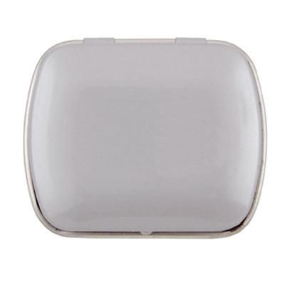 MINI HINGED TIN with Extra Strong Mints in Pale Grey.