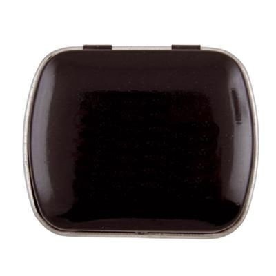 MINI HINGED TIN with Extra Strong Mints in Black.