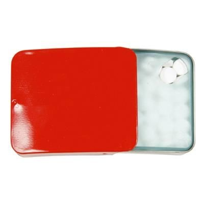SLIDING TIN with 10g of Extra Strong Mints in Red.