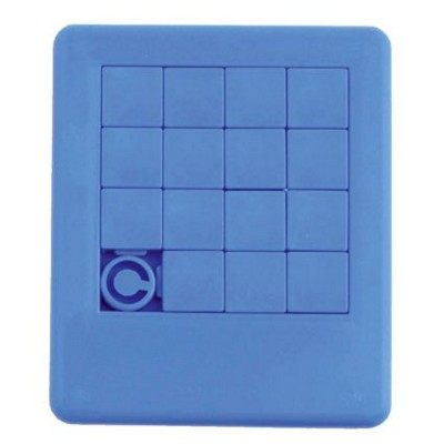 SLIDING PUZZLE GAME in Dark Blue.