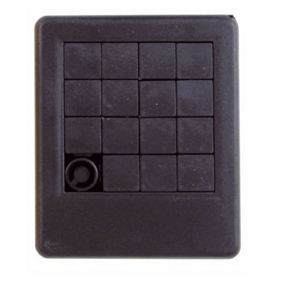 SLIDING PUZZLE GAME in Black.