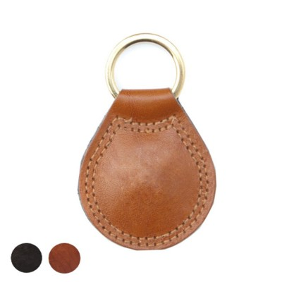 RICHMOND LARGE TEAR DROP KEYRING FOB in Nappa Leather.