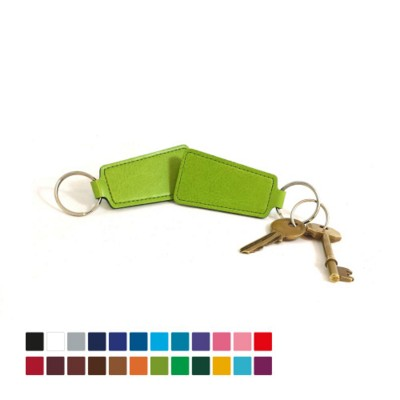 BELLUNO ECONOMY TRAPEZE KEYRING FOB in Belluno PU Leather.