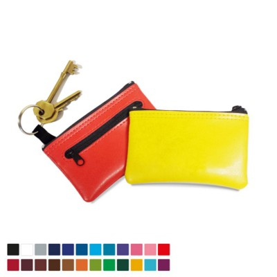 KEY HOLDER KEYRING & COIN PURSE in Belluno PU Leather.