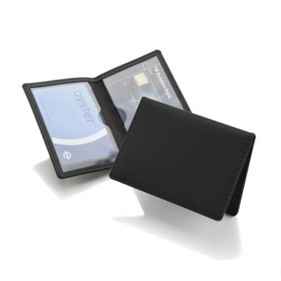 BELLUNO PU CREDIT TRAVEL CARD CASE WALLET in Black.