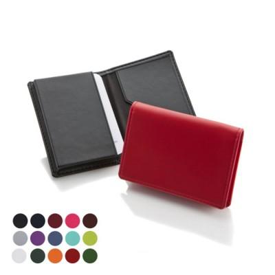 ECONOMY BUSINESS CARD DISPENSER in Belluno PU Leather.
