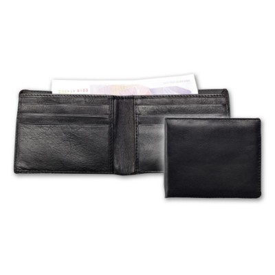 ECONOMY LEATHER GENTS WALLET in Black.