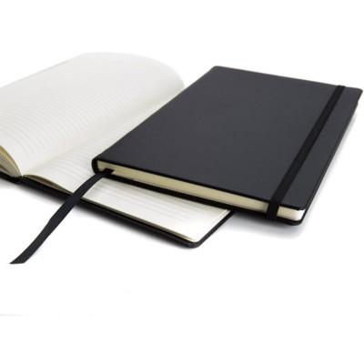 A5 NOTE BOOK in Soft Matt Black PU.